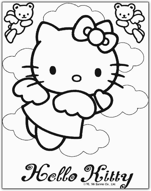 Planse De Colorat Cu Hello Kitty Desene De Colorat Pentru