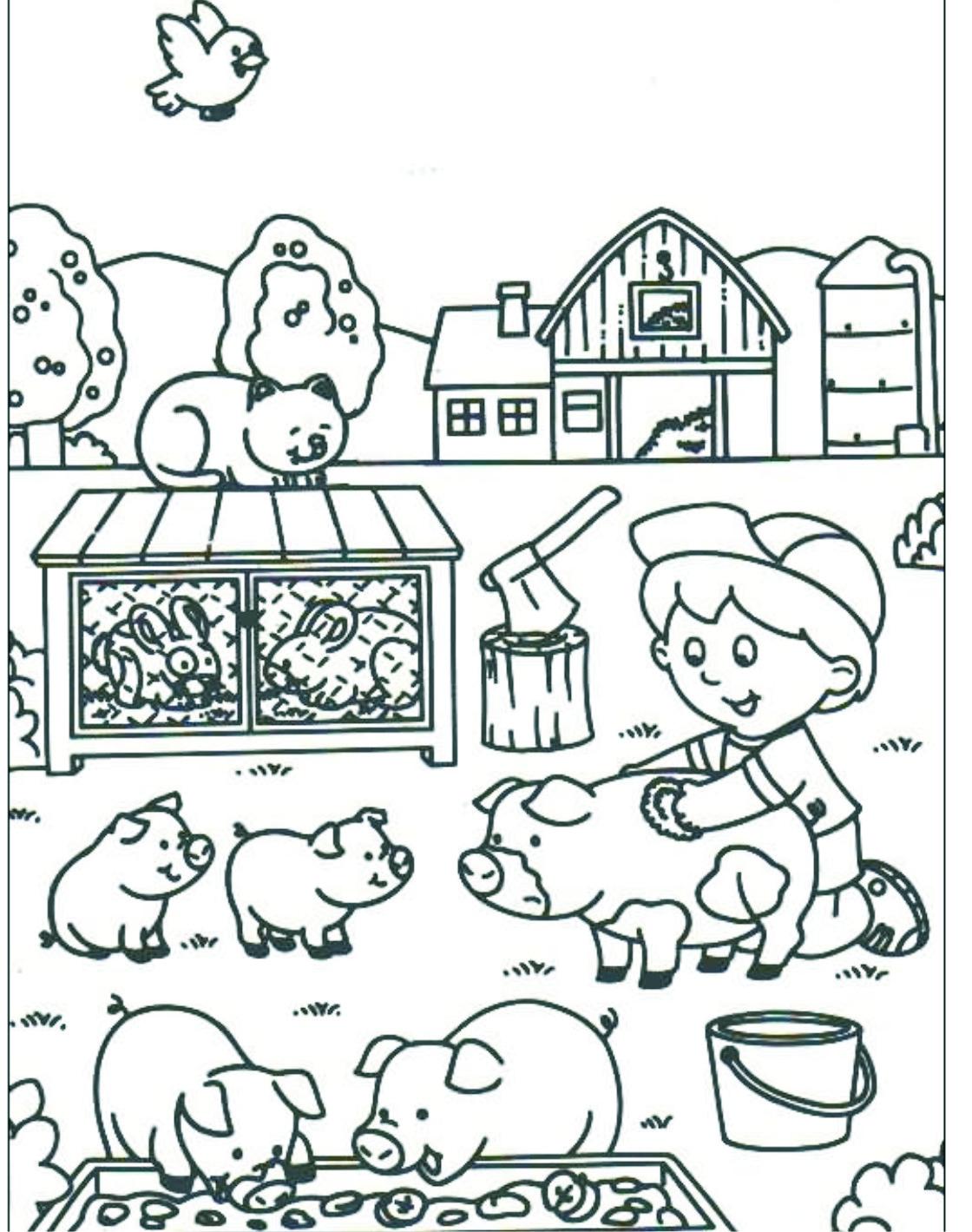 Planse De Colorat Cu Animale Pentru Copii Desene Pentru Colorat Cu