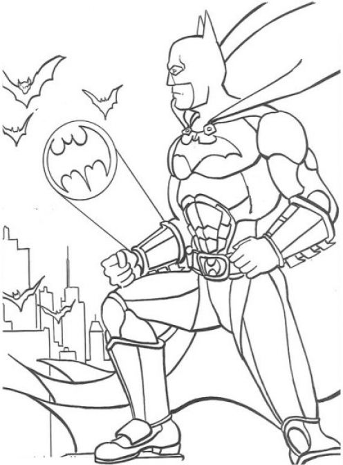 Desene Cu Batman Pentru Colorat Planse De Colorat Gratis