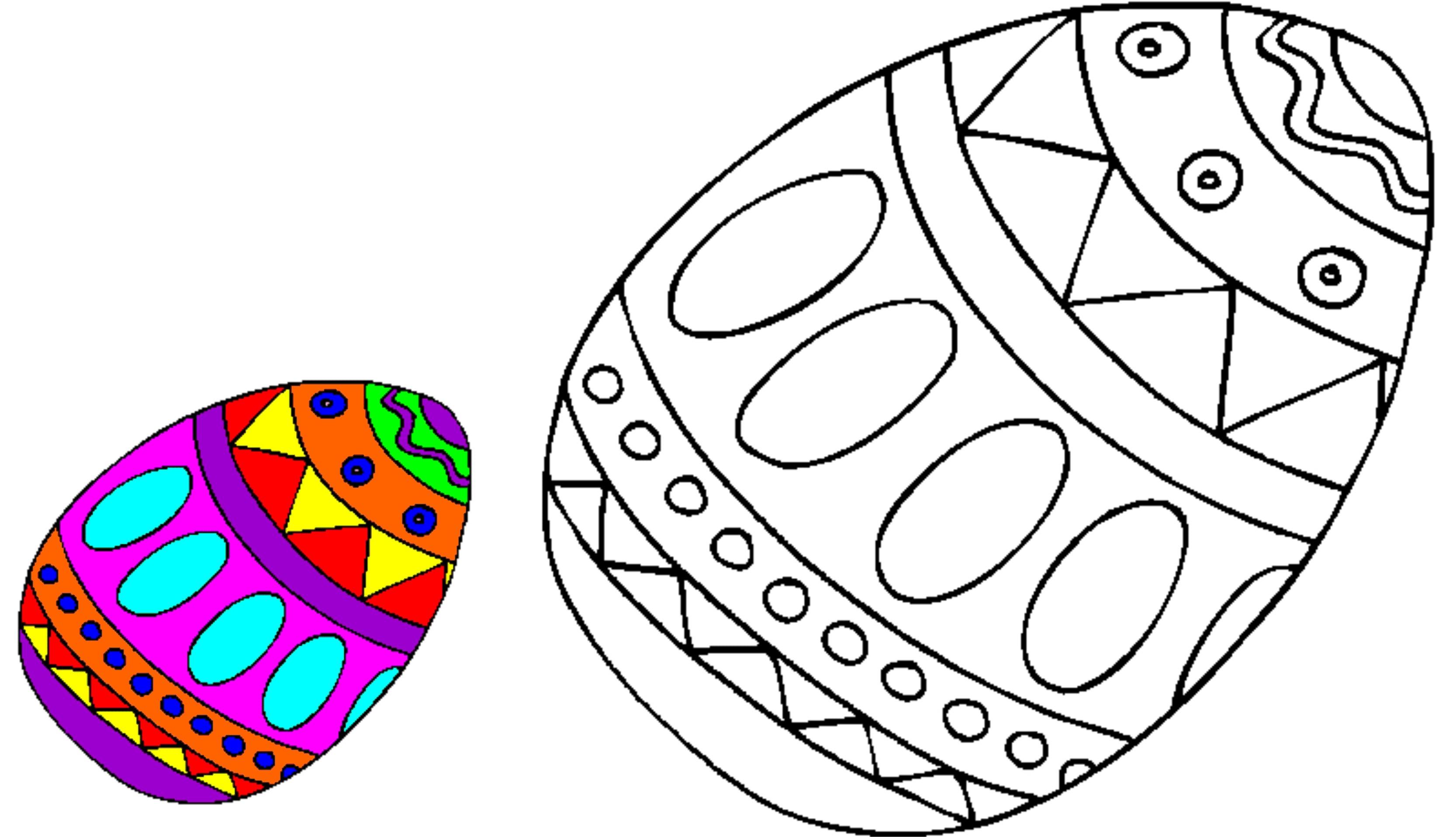 Oua incondeiate de colorat – Desene cu oua de Pasti pentru colorat ...