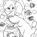 Desene De Colorat Cu Pisicute Planse De Colorat Pentru