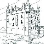 Desene Cu Castele Si Cavaleri Pentru Colorat Planse De